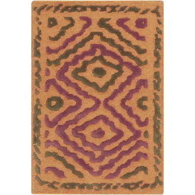Sala Burnt Orange Area Rug Rug Size: 33 x 53