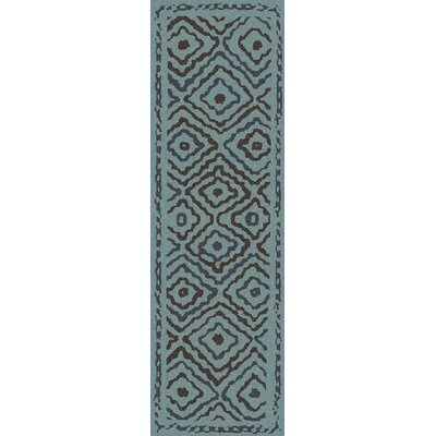 Sala Teal Area Rug Rug Size: Runner 26 x 8