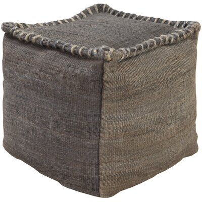 Youna Pouf Upholstery: Charcoal / Gray