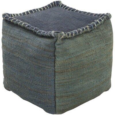 Youna Pouf Ottoman Upholstery: Slate / Forest
