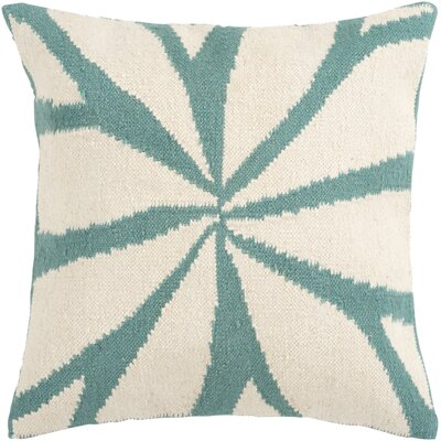 Kacem Throw Pillow Cover Size: 18 H x 18 W x 1 D, Color: NeutralBlue