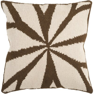 Kacem Throw Pillow Cover Size: 18 H x 18 W x 1 D, Color: NeutralBrown
