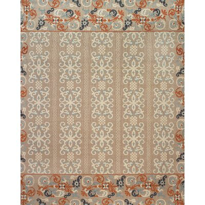 Thistle Beige/Rust Area Rug Rug Size: Rectangle 79 x 99