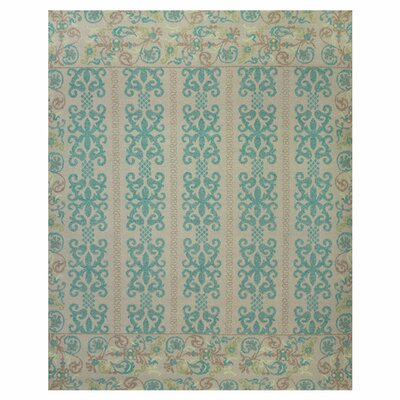 Thistle Teal/Green Area Rug Rug Size: 5'6