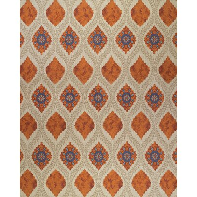 Thistle Tan/Rust Area Rug Rug Size: Rectangle 56 x 86