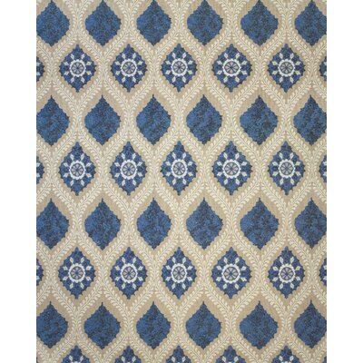 Thistle Tan/Blue Area Rug Rug Size: 36 x 56