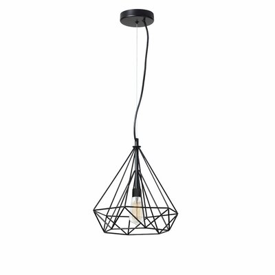 Destine 1-Light Pendant Finish: Matte Black