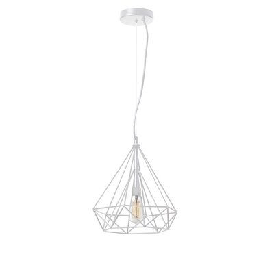 Destine 1-Light Pendant Finish: Matte White