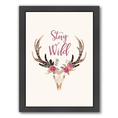 Stay Wild Skull Graphic Art