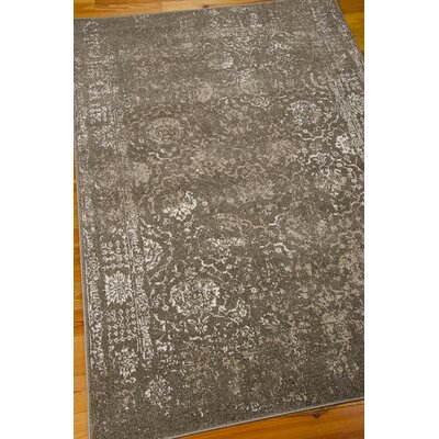 Salaam Gray Area Rug Rug Size: Rectangle 53 x 76