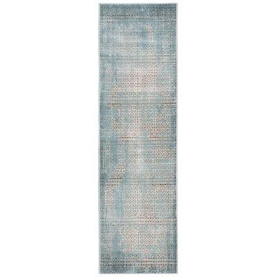 Saliba Blue Area Rug Rug Size: Runner 22 x 76