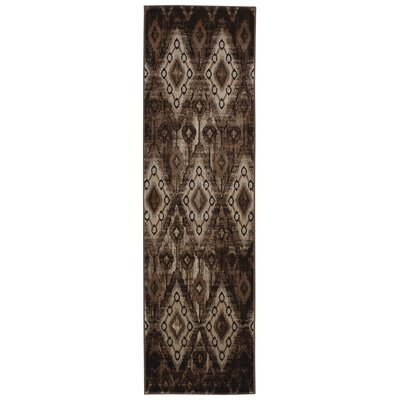 Saliba Chocolate Area Rug Rug Size: Runner 22 x 76