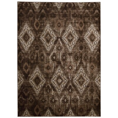 Saliba Chocolate Area Rug Rug Size: Rectangle 93 x 129