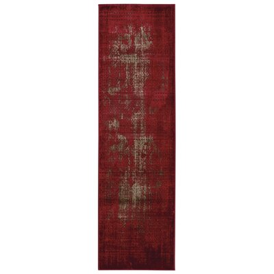 Saliba Red Area Rug Rug Size: Runner 22 x 76