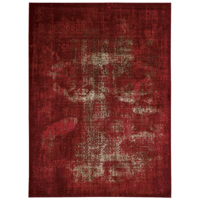 Saliba Red Area Rug Rug Size: 53 x 74