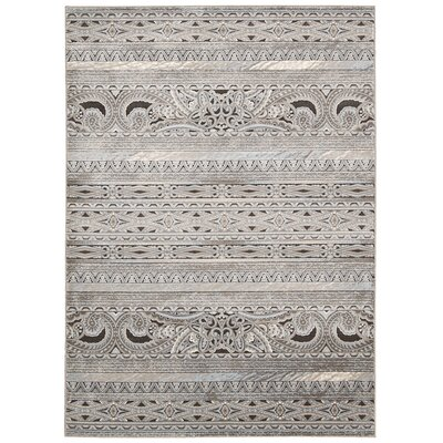 Saliba Stone Area Rug Rug Size: Rectangle 53 x 74