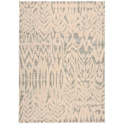 Shaima Beige/Gray Area Rug Rug Size: Rectangle 36 x 56