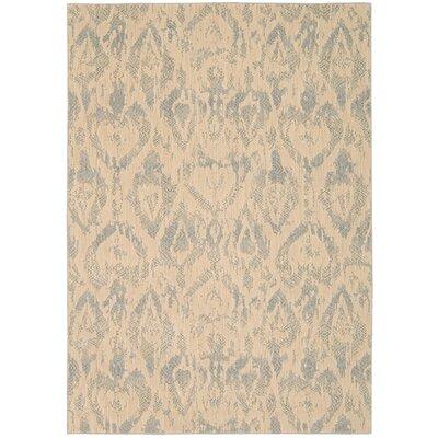 Shaima Gray/Beige Area Rug Rug Size: 53 x 75