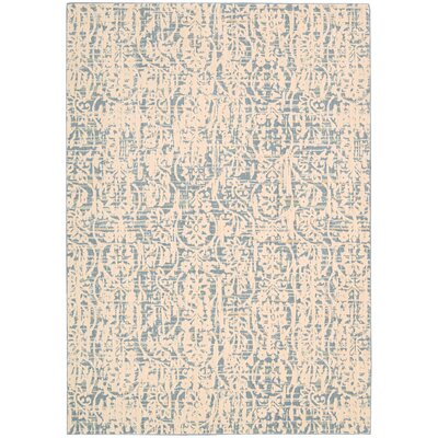 Shaima Ivory/Blue Area Rug Rug Size: Rectangle 53 x 75
