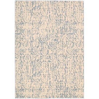 Shaima Ivory/Blue Area Rug Rug Size: 53 x 75