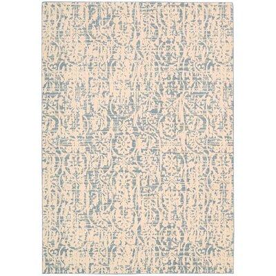 Shaima Ivory/Blue Area Rug Rug Size: Runner 23 x 8