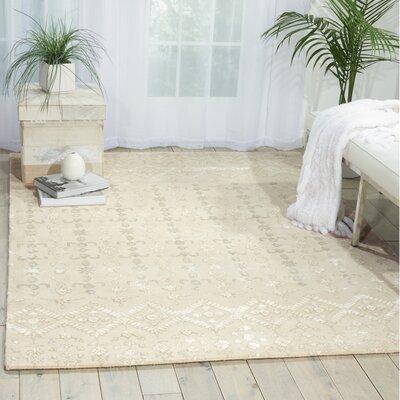 Darroll Ivory Wool Area Rug Rug Size: 56 x 75