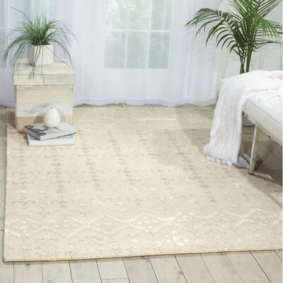 Darroll Ivory Wool Area Rug Rug Size: Rectangle 8 x 11