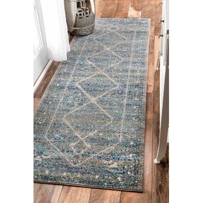 Argana Blue Area Rug Rug Size: Runner 28 x 8