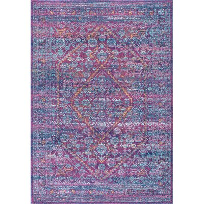 Daveney Purple Area Rug Rug Size: Rectangle 67 x 9