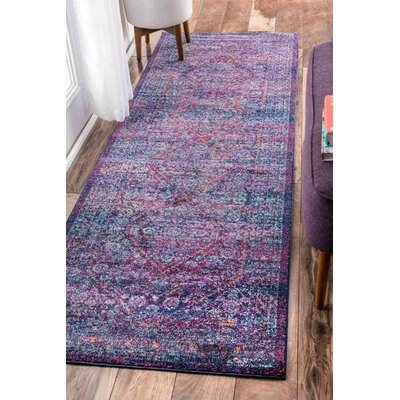 Daveney Purple Area Rug Rug Size: Runner 28 x 8