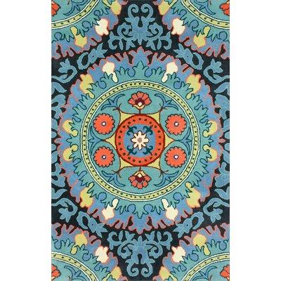 Asny Blue Area Rug Rug Size: 6 x 9