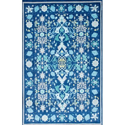 Laymoune Blue Area Rug Rug Size: 4 x 6