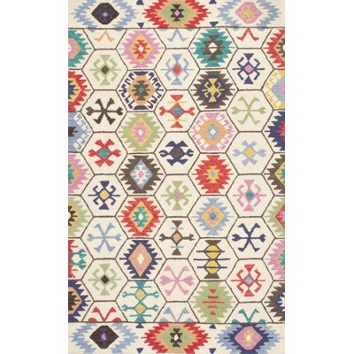 Toubqal Hand-Tufted Beige Area Rug Rug Size: 5' x 8'