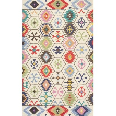 Toubqal Hand-Tufted Beige Area Rug Rug Size: 76 x 96