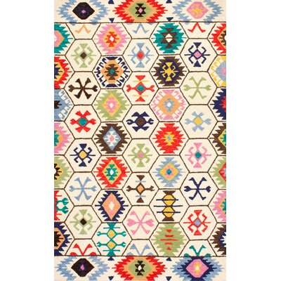 Toubqal Hand-Tufted Beige Area Rug Rug Size: 4 x 6