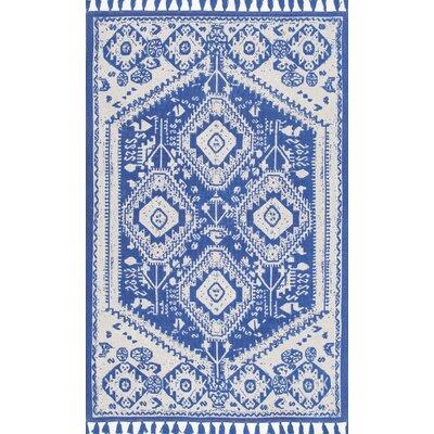Quartier Hand-Woven Blue Area Rug