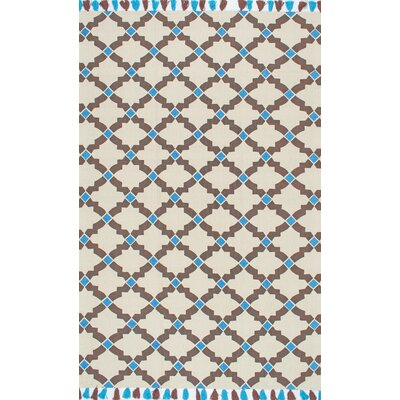 Fassi Hand-Woven Brown Area Rug Rug Size: 5 x 7