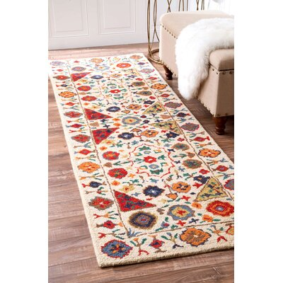 Aqdal Hand-Tufted Area Rug Rug Size: Runner 26 x 8