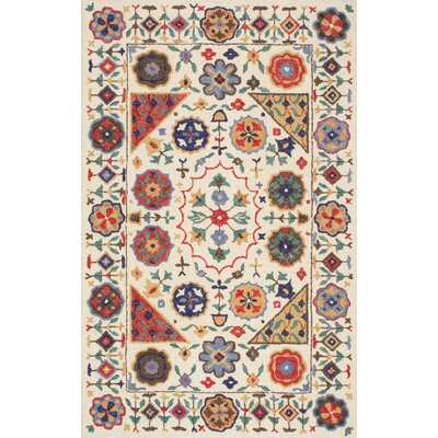 Aqdal Hand-Tufted Area Rug Rug Size: 76 x 96