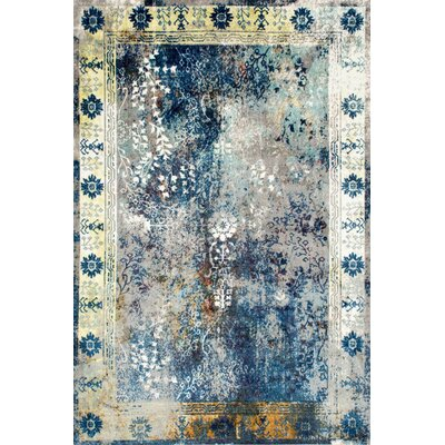 Dabachi Blue Area Rug Rug Size: Rectangle 9 x 12