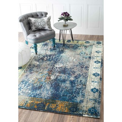 Dabachi Blue Area Rug Rug Size: Rectangle 6' x 9'