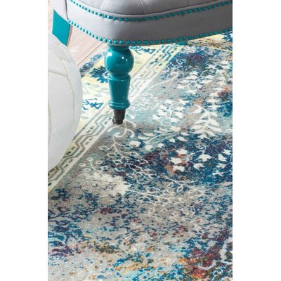 Dabachi Blue Area Rug Rug Size: 9 x 12