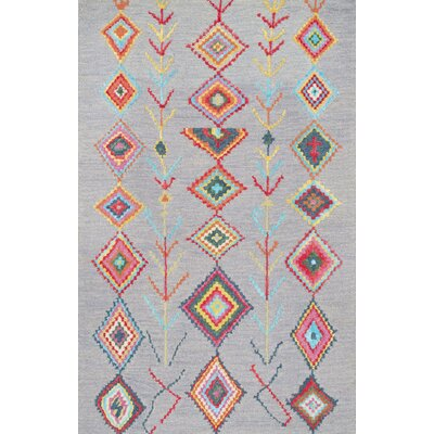 Dayne Hand-Tufted Gray Area Rug Rug Size: Rectangle 5 x 8