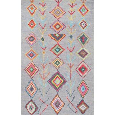 Dayne Hand-Tufted Gray Area Rug Rug Size: 86 x 116