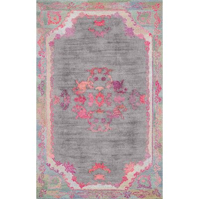 Issil Hand-Tufted Gray Area Rug Rug Size: Rectangle 5 x 8