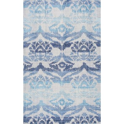 Farhan Hand-Knotted Blue Area Rug Rug Size: Rectangle 5 x 8