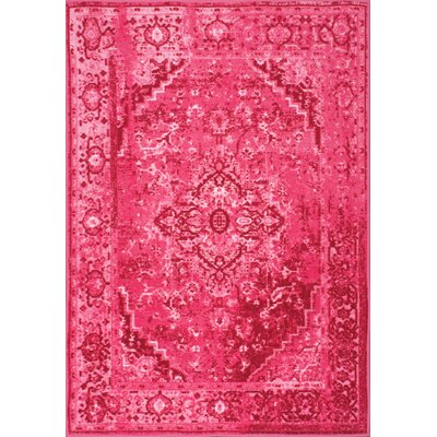 Decker Pink Area Rug Rug Size: Rectangle 9 x 12