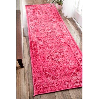 Decker Pink Area Rug Rug Size: Runner 2'6