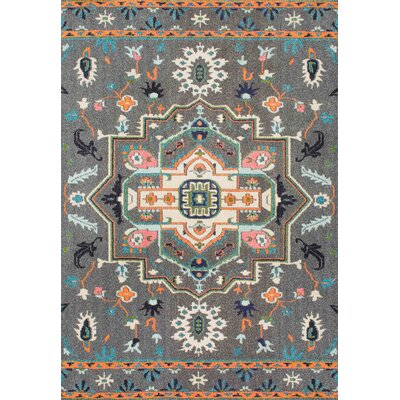 Kharbanda Gray Area Rug Rug Size: Rectangle 53 x 77