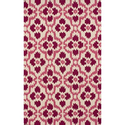 Adams Pink Area Rug Rug Size: Rectangle 76 x 96